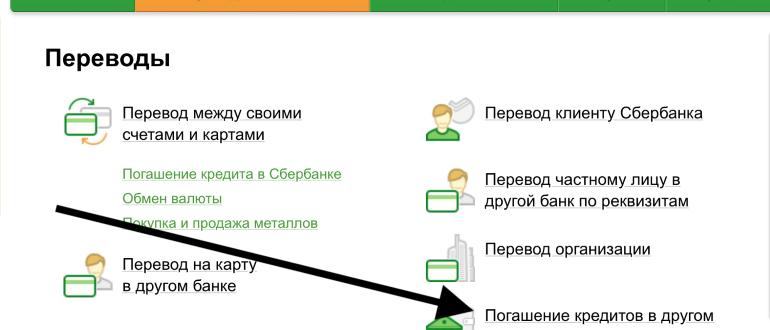 Оплата кредита в Росгосстрах банка через Сбербанк онлайн